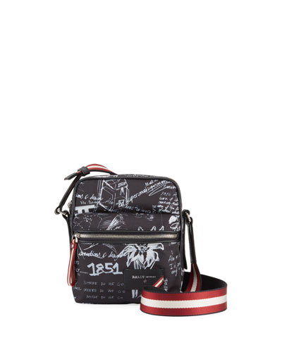 Men's Faara Allover-Print Crossbody Bag