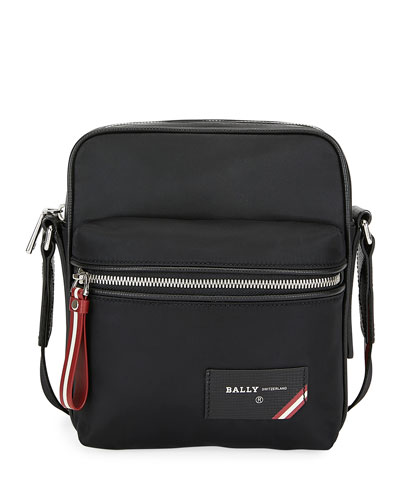 Men's Faara Trainspotting-Stripe Crossbody Bag