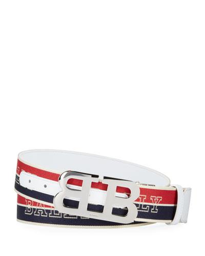 Men's Mirror B 40 Reversible Logo Belt