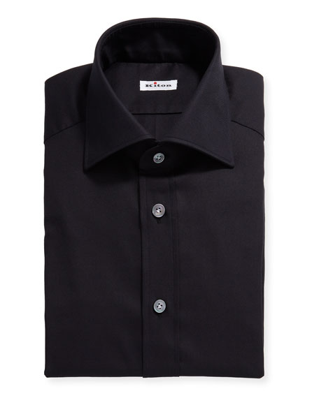 Kiton Men's Solid Oxford Dress Shirt