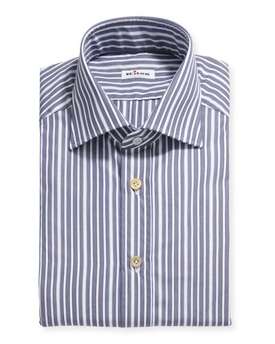 Men's Multi-Stripe Cotton Dress Shirt