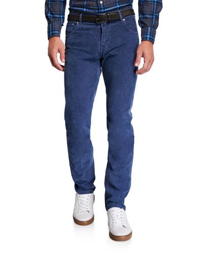 Men's Straight-Leg Corduroy 5-Pocket Pants