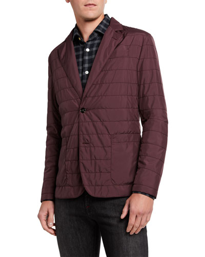 Men's Quilted Packable Two-Button Jacket