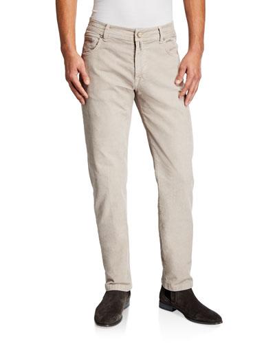 Men's Straight-Leg Corduroy 5-Pocket Pants, Stone