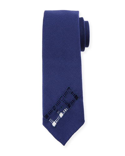Men's Dado Cutout Wool Tie