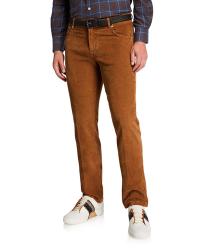 Men's Straight-Leg Corduroy 5-Pocket Pants, Vicuna