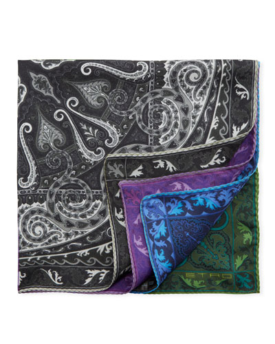 Reversible Silk Pocket Square