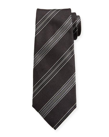 TOM FORD Men's Striped Silk Tie