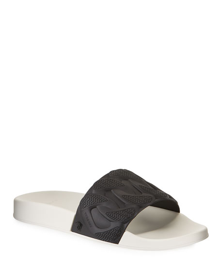 Versace Men's Chain Reaction Rubber Slide Sandals
