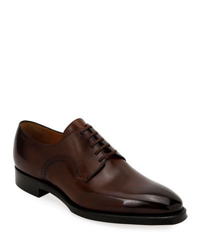 Men's Scamardo Leather Derby Dress Shoes