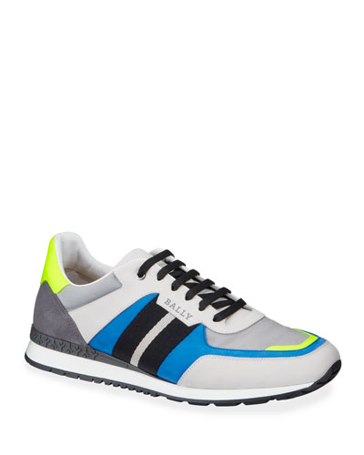 Men's Aseo Multicolor Trainspotting-Stripe Sneakers