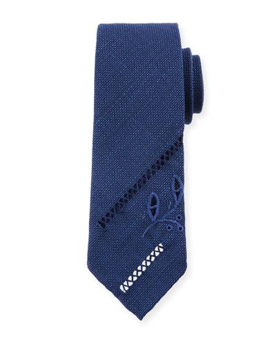Zigzag Foglie 2 Wool Tie
