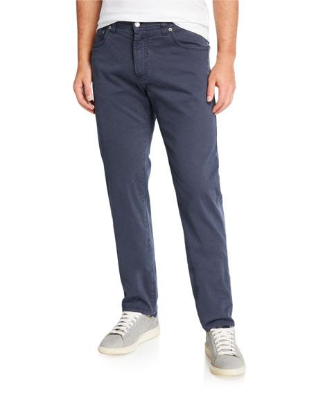 Neiman Marcus Men's Brushed Cotton 5-Pocket Pants