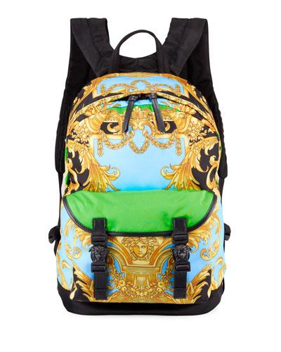 Men's Barocco Medusa Head Backpack