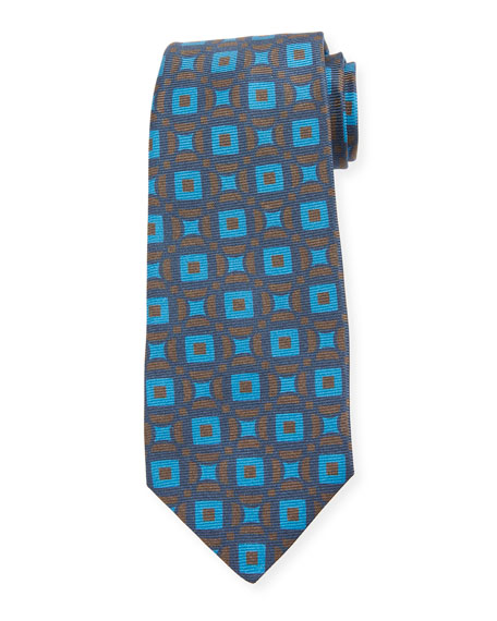 Kiton Connected Circles Silk Tie
