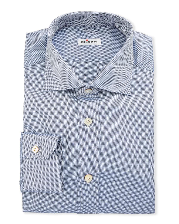 Kiton Dresses MEN'S COTTON OXFORD DRESS SHIRT
