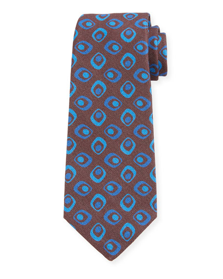 Kiton Men's Connected Circles Silk Tie