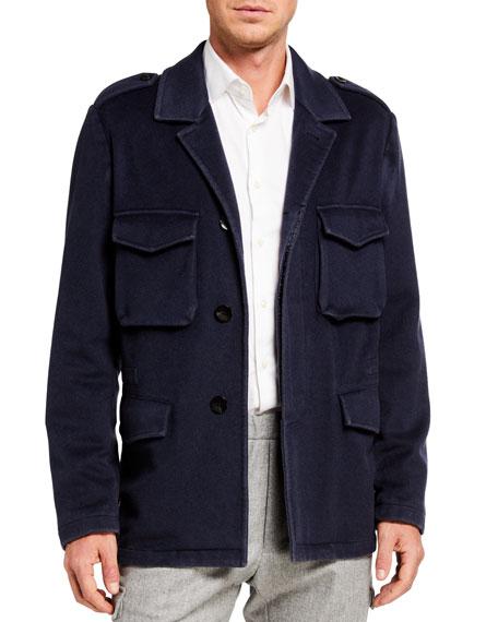 Boglioli Men's Garment-Dyed Field Jacket