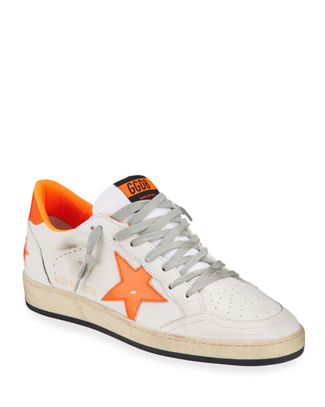 Golden Goose Men's Ball Star Leather Sneakers