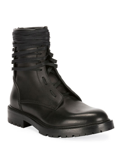 Men's Leather Combat Boots