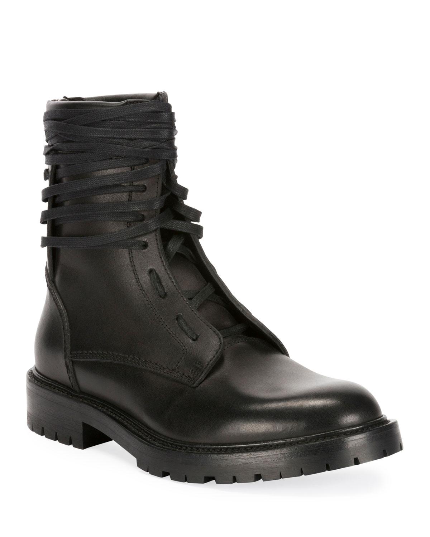 Amiri Boots MEN'S LEATHER COMBAT BOOTS