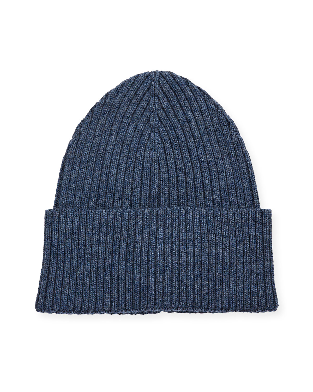 Eton Hats MEN'S RIBBED WOOL BEANIE HAT, BLUE