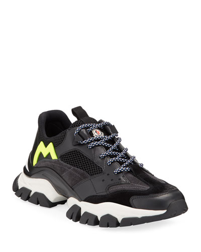Men's Leave No Trace Mesh & Leather Trainer Sneakers