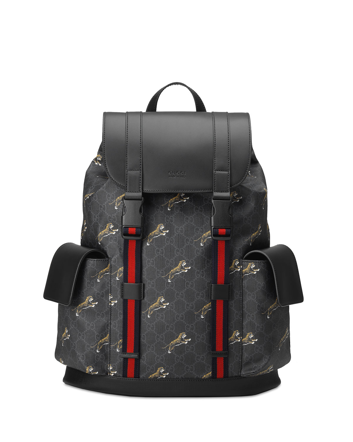95373eab7392 Gg Supreme Canvas Backpack Black - Restaurant Grotto Ticino ...