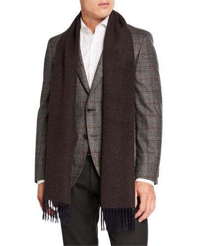 Men's Solid Wool Scarf