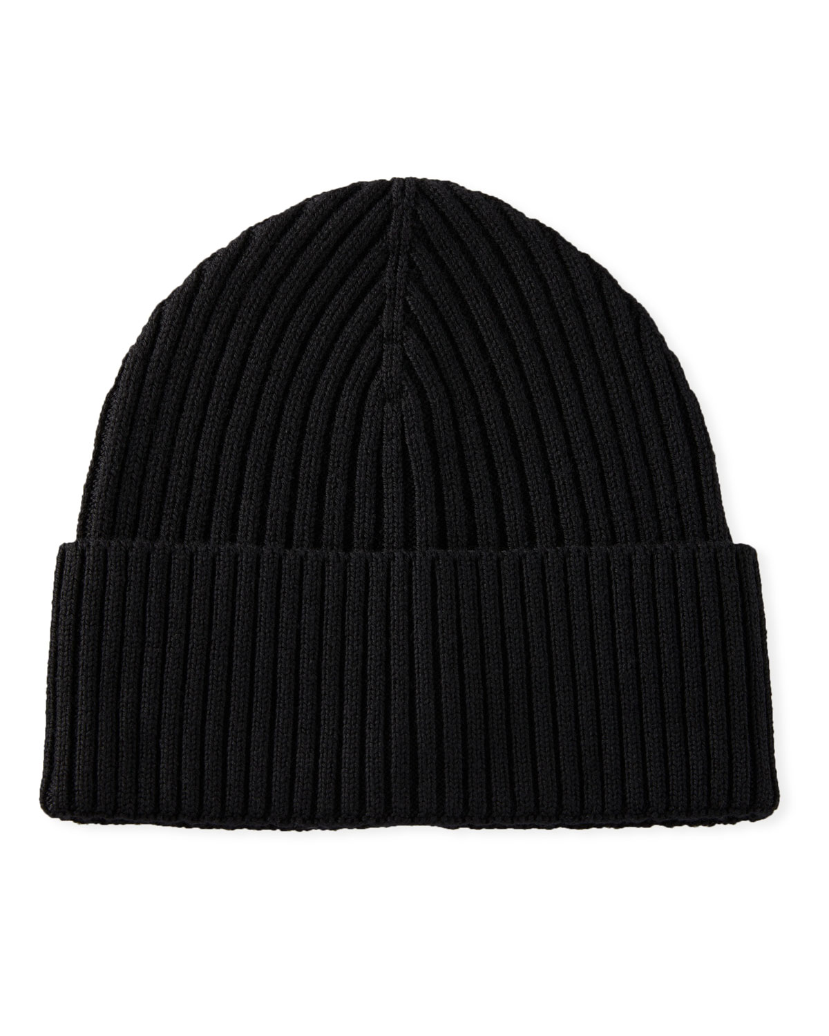 Eton Hats MEN'S RIBBED WOOL BEANIE HAT, BLACK