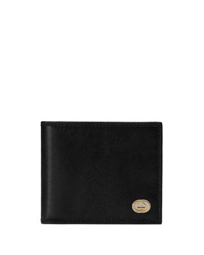 Men's Interlock-G Leather Wallet