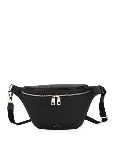 Men's Waits Leather Belt Bag/Fanny Pack