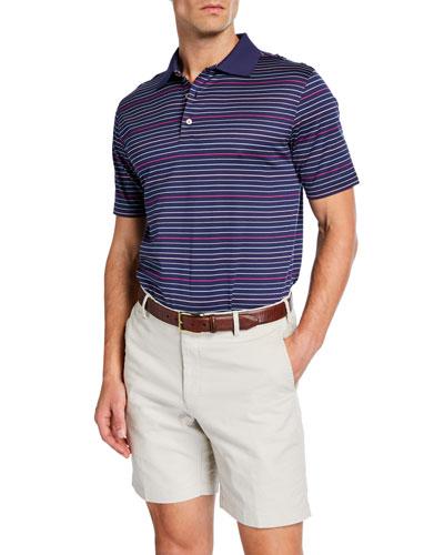 Men's Crown Ease Striped Polo Shirt