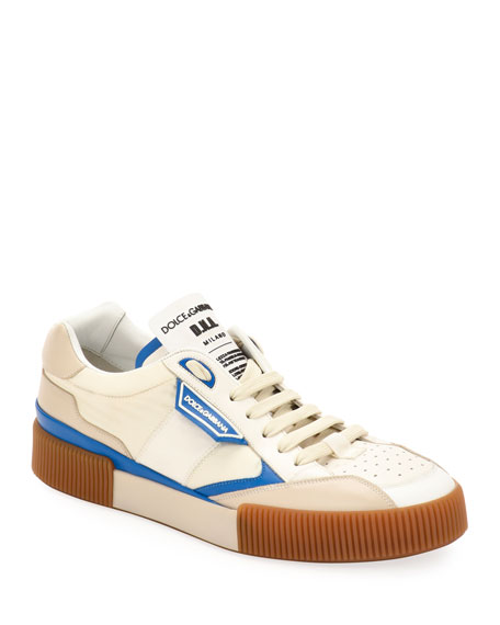Dolce & Gabbana Men's Leather Low-Top Sneakers