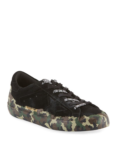 Men's Superstar Camo-Coated Suede Sneakers