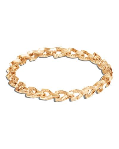 Men's 18K Yellow Gold Asli Classic Chain Link Bracelet, Size M-L