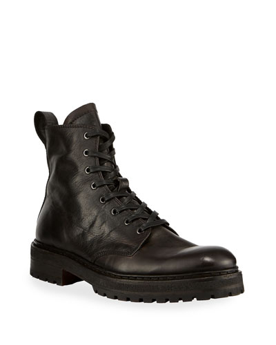 Men's Union Leather Combat Boots