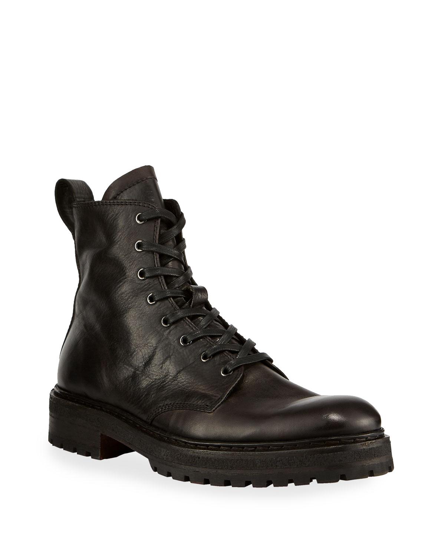 Men's Union Leather Combat Boots