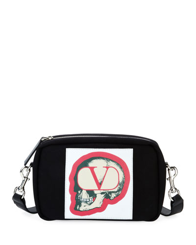 Men's V Logo with Undercover Skull Crossbody Bag
