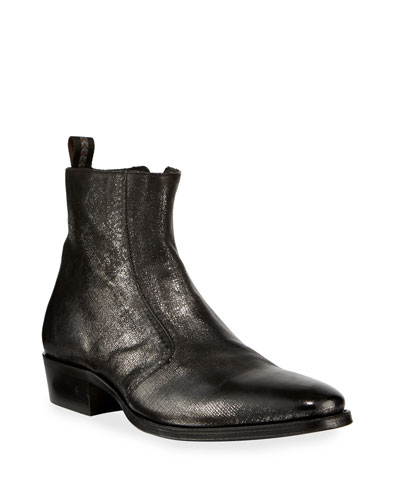 Men's Ludlow Vintage Leather Side-Zip Ankle Boots