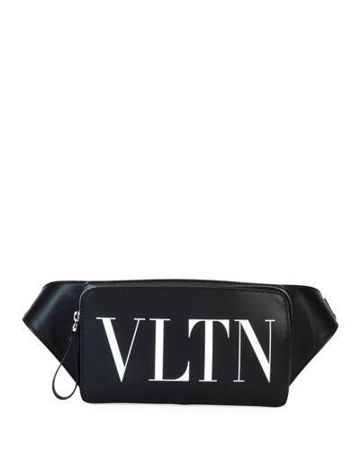 Men's VLTN Leather Belt Bag