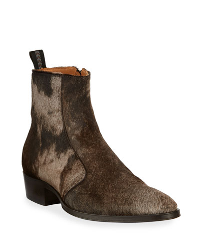 Men's Ludlow Vintage Calf Hair Ankle Boots
