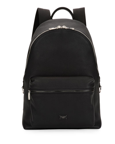 Men's Solid Leather Backpack
