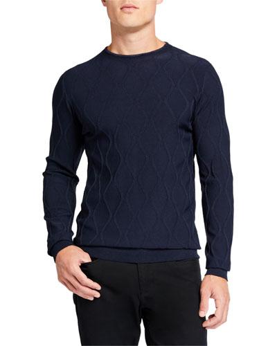 Men's Vertical Waves Crewneck Sweater