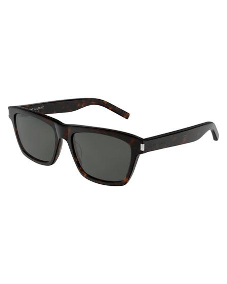 Saint Laurent Men's Patterned Rectangle Sunglasses