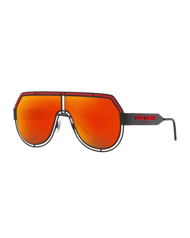 4f0a8a235a8d Dolce & Gabbana Men's Geometric Metal Aviator Sunglasses In Gold ...