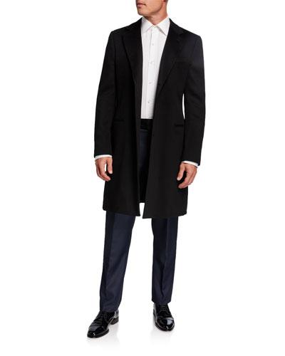 Men's Solid Wool-Cashmere Topcoat