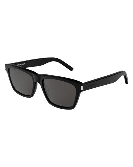 Saint Laurent Men's Rectangle Acetate Sunglasses