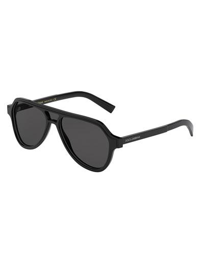 Men's Vintage-Inspired Aviator Cutout Sunglasses