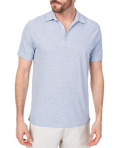 Men's Isle Striped Polo Shirt